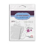 Mousse adhévise 3D carrée 2 mm 217 pcs
