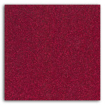 Tissu GLITTER thermocollant pailleté A4 - Rouge