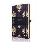 Carnet de notes ligné Black&Gold 13 x 21 cm Baroque