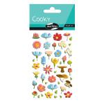 Stickers 3D Cooky fleurs x 45 pcs