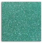 Tissu pailleté thermocollant 21 x 30,5 cm - Vert