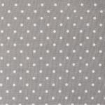 Tissu 50 x 140 cm Petits points gris et blanc