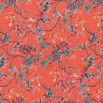Papier Décopatch 30 x 40 cm 645 Fleurs exotiques rouge