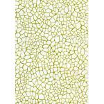 Feuille Décopatch - Effet mosaïque blanc et or - 30 x 40 cm