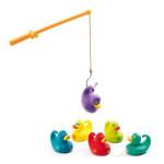 Jeux de pêche aux canards colorés