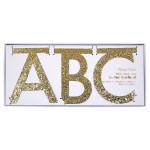 Guirlande lettre dorées H. 10,5 cm - 134 lettres
