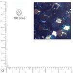 Facettes dépolies - Onyx - 3 mm x 100 pces