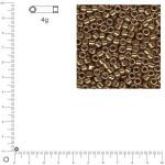 Miyuki Delicas 10/0 métallique - Topaze fumé DBM0022 - 4 g