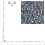 Miyuki Delicas 10/0 transparent rainbow - Bleu électrique DBM0111 - 7 g