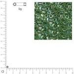 Miyuki Delicas 10/0 transparent rainbow - Jaspe DBM0060 - 9 g