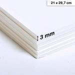 Carton mousse 3 mm - 21 x 29,7 cm