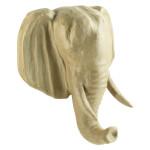 Objet en papier mâché tête éléphant 31 x 16,5 x 36 cm