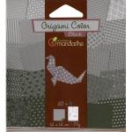 Pochette Origami Color - 12 x 12 cm -  Noir