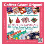 Livre modèles + papier origami à motifs japonais