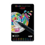 Crayon de couleur Color Collection - 12 couleurs en boite métal