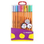Feutre Point 88 Boite Colorparade de 20 dont 10 pastels