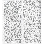 Alphabet Stickers pailletés - Argent