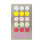 Gommettes rondes pastels 15 mm