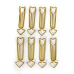 Maxi Trombones flèches Or 1,2 x 5,8 cm 8 pcs