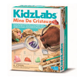 Coffret scientifique Kidzlabs Kit de la mine de cristaux