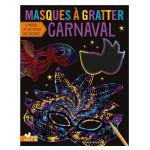 Masques à gratter Carnaval pochette de 8 pcs