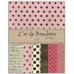 Feuilles de papier recyclé rose & or L'Or de Bombay 21 x 27 cm x 10 pcs