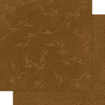 Double Dot Flourish - Papier Chocolate