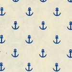 Papier Lokta Imprimé 50 x 75 cm Blanc motif Ancre bleue