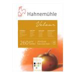 Bloc de papier pastel Velour 260 g/m² couleurs assorties 10 feuilles - 24 x 32 cm