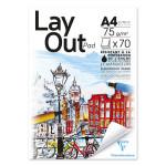 Bloc de papier Layout 75 g/m² 70F - 21 x 29,7 cm (A4)