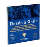 Bloc de papier à grain 180 g/m² - 21 x 21 cm