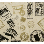 Papier Lokta 50 x 70 cm 150 g/m² Timbres Noir et Or