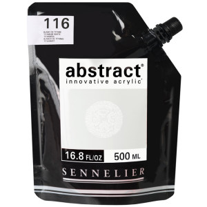 Peinture acrylique fine Abstract 500 ml - 116 - Blanc de titane