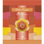 Papier pailleté Glit's Paper 18 nuances de rouge - orange 200 g/m²