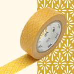 Masking Tape fleurs jaune Hanabishi Hku