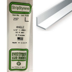 Baguette profile en L en plastique 350 x 6,3 x 6,3 mm - 2 pcs