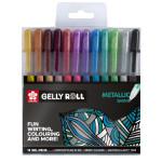 Stylo gel Gelly Roll 12 couleurs Set Metallic
