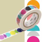 Masking Tape x Artist Kapitza Cercles multicolores 15 mm x 10 m