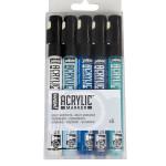 Feutre Acrylic Marker 1,2 mm Set bleu