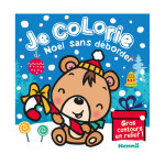 Livre Je colorie Noël sans déborder Ourson brun