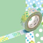 Masking Tape 1P Negapoji pois bleu 15 mm x 10 m