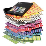 Papier imprimé à motifs double face A4 21 x 29,7 cm 100 g/m² 160 feuilles