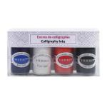 Encre de calligraphie Set 4 couleurs 15 ml