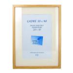 Cadre en MDF Carla chêne + passe-partout - 50 x 70 cm