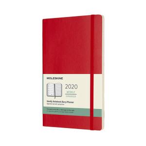 Agenda 2020 souple Semainier 13 x 21 cm Rouge