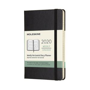 Agenda 2020 Horizontal Semainier 9 x 14 cm Noir