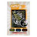 Carte à gratter Scraper or Kawaii Tigre farceur