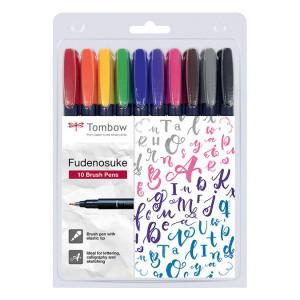 Feutre pinceau Fudenosuke Set 10 couleurs