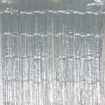 Rideau mylar Argenté 250 x 100 cm