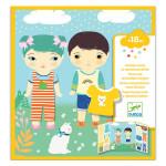 Stickers des petits Les habits